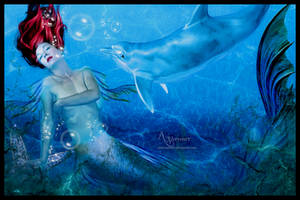 Mermaid With Dolfin by annemaria48