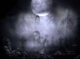 The graveyard ghost spirits by annemaria48