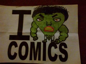 My I love comics logo desgin by holster262