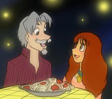The Lady and the Tramp human by LoulouVZ