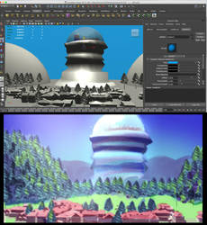 3D background experiment by LoulouVZ