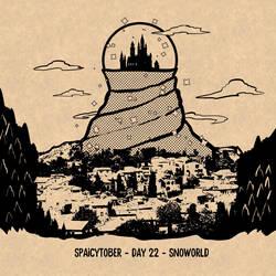 #spaicytober day 22 - Snoworld by LoulouVZ