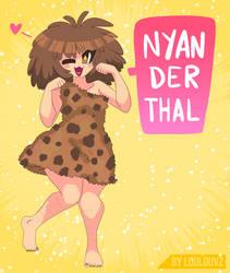 Nyan-derthal \()/  by LoulouVZ