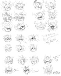 SD Gundam Force Expressions Experimentation by Xzeit
