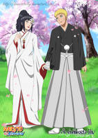 NaruHina Wedding - Lineart Colored by DennisStelly