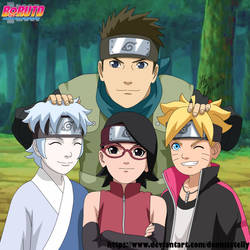 Naruto Next Generation - The New Team 7 by DennisStelly