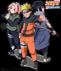 Naruto Shippuden - Team 7 reunited! by DennisStelly