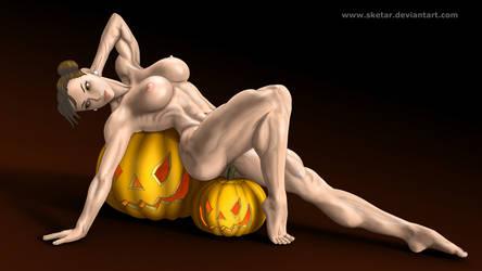Chun-Li's Big Pumpkins by sketar