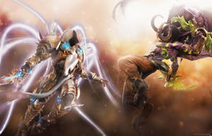 Tyrael vs Illidan by slipknotrlm