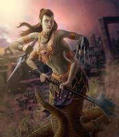 Staff and Sword - Lamia by ProxyArmy