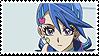 Blue Girl Stamp by kolilop