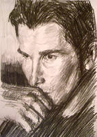 Christian Bale sketch by CubistPanther