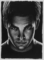 Chris Pine as Kirk by CubistPanther