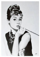 Audrey Hepburn by CubistPanther