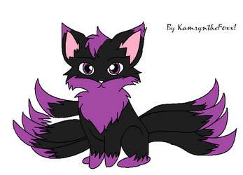 Me as a 9 tailed fox :3 by diamondluv180