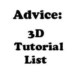 Advice: 3D Tutorial List by Crevist
