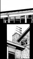 School Building in Ink by Mikenestin
