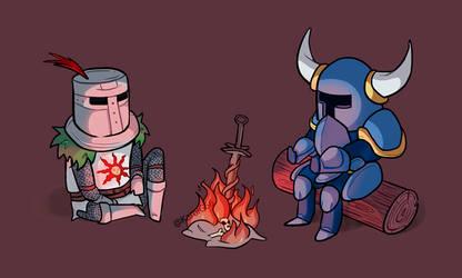 Dark Souls meet Shovel Knight by KarolG66