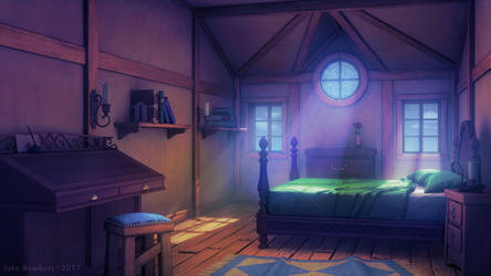 Bedroom [morning] by JakeBowkett