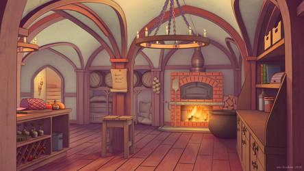 Castle Kitchen by JakeBowkett