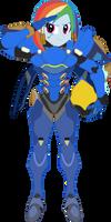 PharahDash Salute [Overwatch] by sonofaskywalker