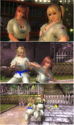 CMR Belgium Karate Gi Pack: Honoka and Marie-Rose by Gambrinus333