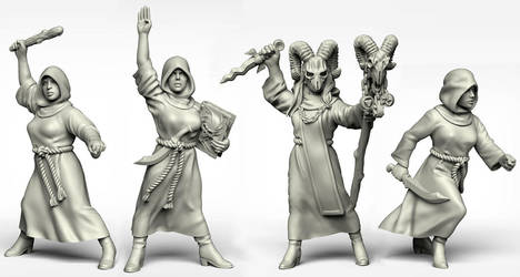 Female cultists by Ergart