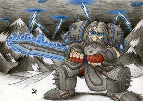 Dwarf Death Knight by triumviratusok