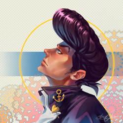 Josuke Higashikata fanart by amziss
