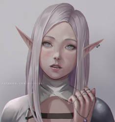 Elf Portrait by NibelArt