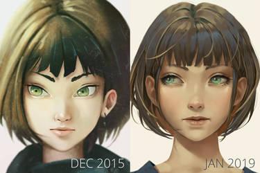 Portrait Girl /Draw it again/ by NibelArt