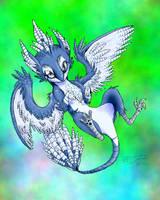 Flying Type Eevee:Griffeon by IceCatDemon