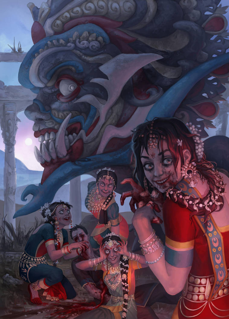 Indian horror by Catlait