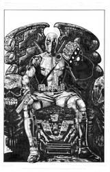 Deadpool wears the Infinity Gauntlet by LuisPuig