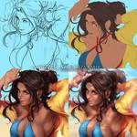 Angelita Progress Shots by Artipelago