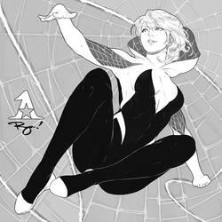 Spider-Gwen! :Inktober '18 #4 by Artipelago
