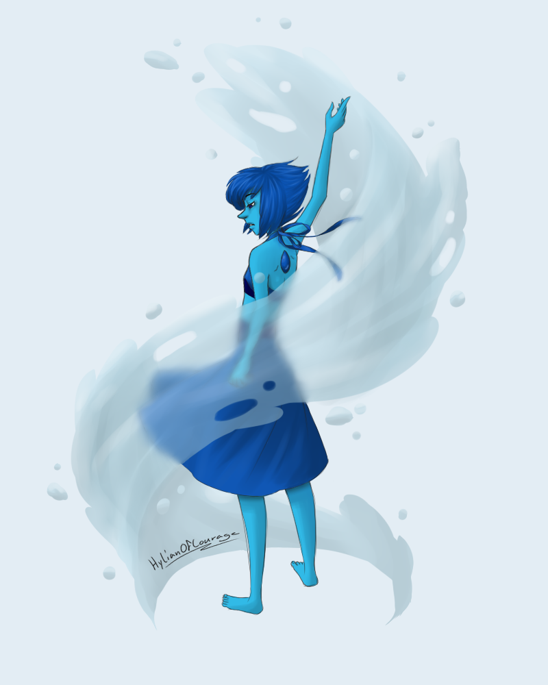 Literally just water practice. At least, that was the intent. Might as well submit it before I change my mind. Not sure if I like the digital or traditional version better tho. Lapis Lazuli from St...