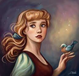 Cinderella portrait by Dim-Draws