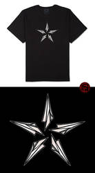 Paper Plane Star Tee by HundredHands