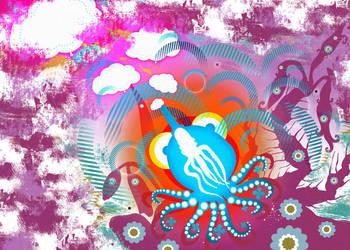 Smoking Octopus by speedburger
