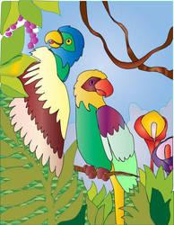 Parrots by celeceravian