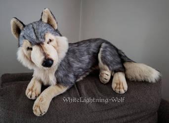 E+J Classic Timber Wolf Plush by WhiteLightning-Wolf