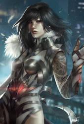 Yua, the dragon lady - commission by Skyzocat