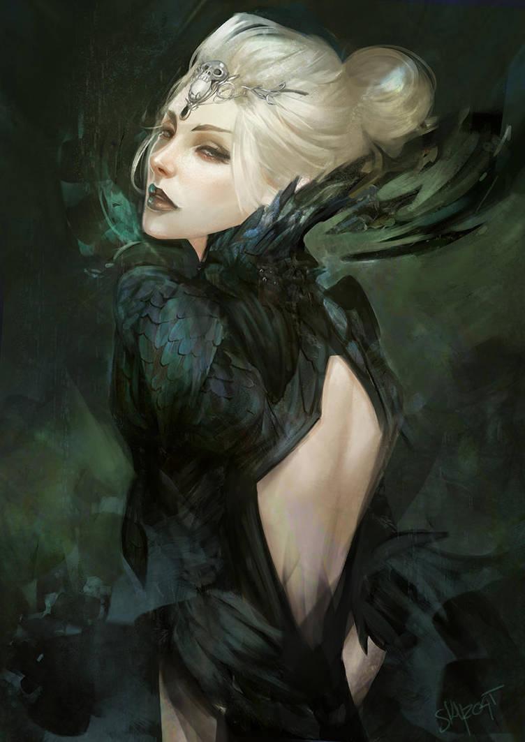 Commission, Dark Priestess by Skyzocat