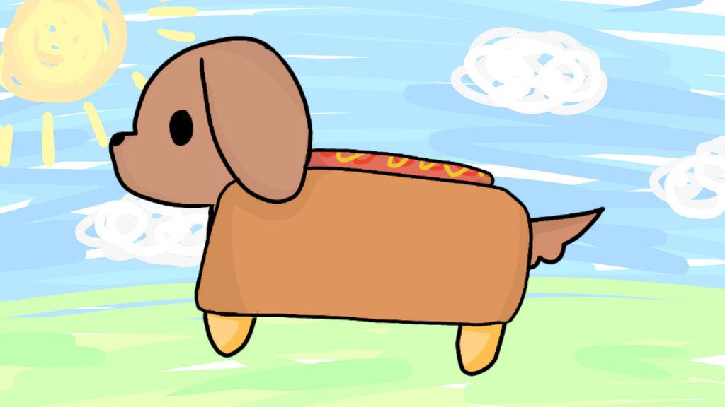 One hot doggo by pink-llamacornz