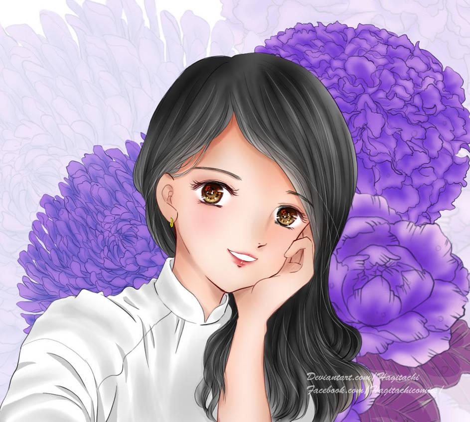 [C] Girl wearing the Ao Dai by Hagitachi