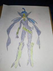 Aida's superheroine outfit concept art. by prtfdc