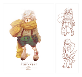 Character Design Trade: tiny-mint by x-Windust