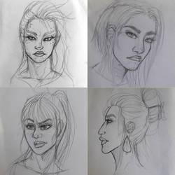random sketches by mylovelyghost