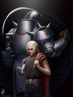 Fullmetal Alchemist, Brothers by TheMaestroNoob